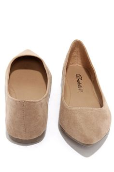 Low and Behold Natural Suede Pointed Flats at Lulus.com!