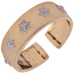Estate Buccellati Cuff Bracelet | From a unique collection of vintage cuff bracelets at https://www.1stdibs.com/jewelry/bracelets/cuff-bracelets/