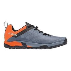 dba88b7e56b0 Men s adidas Terrex Trail Cross Sl Bike Hiking Shoe Raw Steel Grey  One Orange