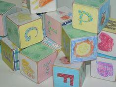 Homemade baby blocks