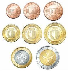 Alle euromunten - Euromunten en biljetten Euro, Malta, Tea Lights, Coins, Monogram, Personalized Items, Collage, Rare Coins, Money