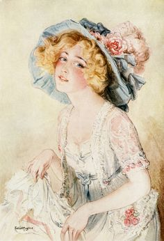 Gabrielle Ray in The Merry Widow by Talbot Hughes (1908).