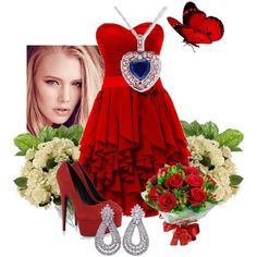 """Red"" by alicefofurinha on Polyvore"