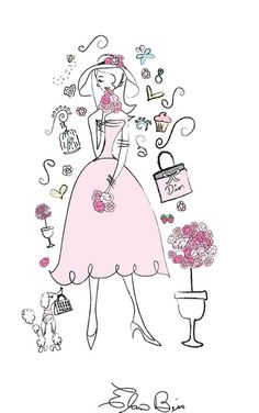 Elaine Biss | Feminine Illustrator and Girly Logos with Parisian chic