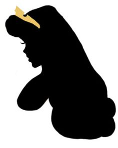 silhoutte for centerpiece; print and back on pink or gold paper