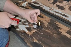 Use wax to help create distressed areas when painting furniture