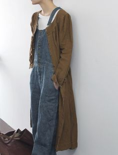 overalls long duster Yes! This is a lushable wearable! The satiny feel of well loved denim...the swish of a long coat.