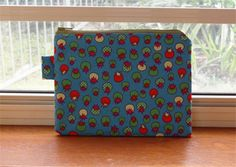 Teal Tomatoes Field Cotton Zippered Pouch