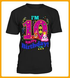 Poop Emoji Happy 10th Birthday Shirt For Boys Girls Gift - Affen shirts (*Partner-Link)