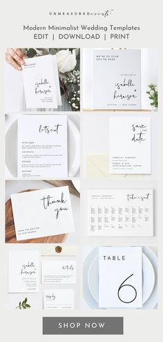 DIY printable wedding invitations, wedding signage, wedding seating charts, wedding timelines and programs, wedding table numbers and more. Edit immediately, download, and print same day for a timeless look on a budget. Save hundreds of dollars by going the semi-DIY route. Shop Now.
