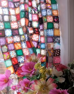absolutely love this idea for curtains... or even for a table cloth! easily made.