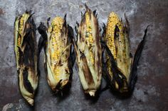 corn on the barbeque - summer goodness