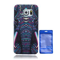 Galaxy S6 Edge Case, Samsung Galaxy S6 Edge Case Protective SOFT-Interior Scratch Protection Finished Base with Vibrant Trendy Color Slider Style Soft Cases for Samsung Galaxy S6 Edge (elephant)