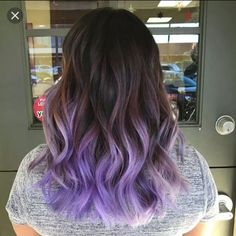 45 Cool Lilac Ombre Hair Ideas - Trendy Contemporary Styling - hair / make up / nails - + 45 Coole Lila Ombre Ha Purple Hair Tips, Purple Brown Hair, Light Purple Hair, Dyed Hair Purple, Lilac Hair, Hair Color Purple, Light Brown Hair, Cool Hair Color, Dye My Hair
