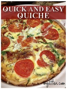 1000+ images about Food - Quick & Easy on Pinterest | Easy Quiche ...