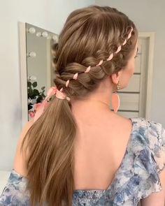 Braided Hairstyles Tutorials, Easy Hairstyles, Halloween Hairstyles, Hairstyle Ideas, Bangs Hairstyle, Braided Hairstyles For Long Hair, Hairstyles For Girls, Female Hairstyles, Style Hairstyle