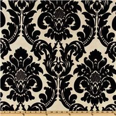 Dior Flocked Damask Taffeta Ebony/Almond