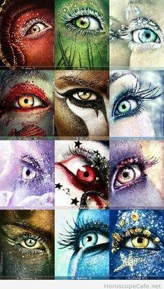 Artistic zodiac makeups