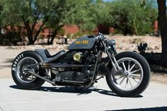 """""""Two-lane"""" by DP Customs Bobber #motorcycles #bobber #motos 