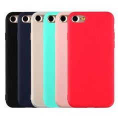 For iphone 7 plus phone cases candy color For iphone 6 plus case For apple iphone 5 back cover case TPU silicone