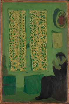 Édouard Vuillard | The Green Interior (Figure Seated by a Curtained Window) | The Met 1891