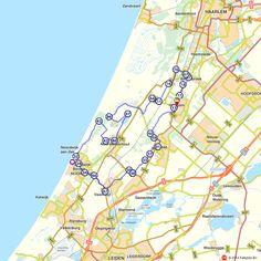Fietsroute: Hillegom, Bennebroek en Noordwijk  (http://www.route.nl/fietsroutes/123141/Hillegom-Bennebroek-en-Noordwijk/)