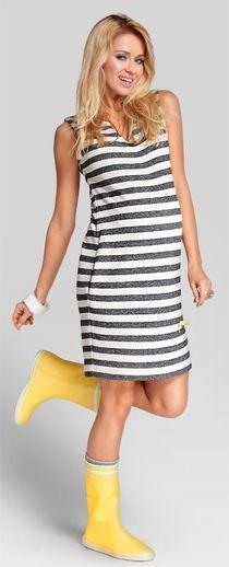 Striped платье в полоску для беременных