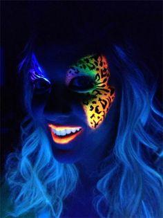 fluo leopard butterfly make up