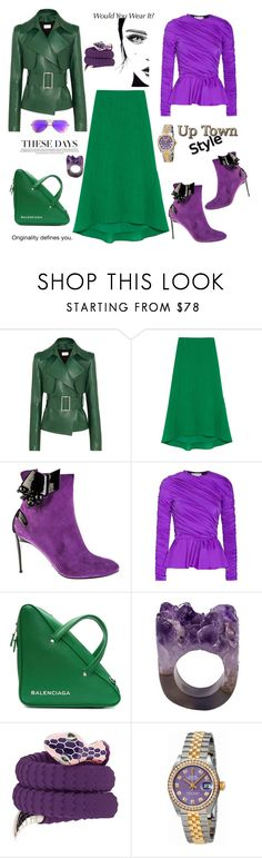 """These days"" by zabead ❤ liked on Polyvore featuring Thierry Mugler, Cefinn, Baldinini, Balenciaga, Tamara Donalli, Rolex and Ray-Ban"