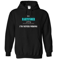 BARTENDER- NEVERWRONG T Shirts, Hoodies. Check price ==► https://www.sunfrog.com/Funny/BARTENDER-NEVERWRONG-2110-Black-5636444-Hoodie.html?41382 $39.99
