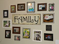 My new photo display wall / collage --tutorial on the blog