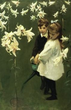 John Singer Sargent ~ His children always had a purity and sensitivity.  This one charms me!