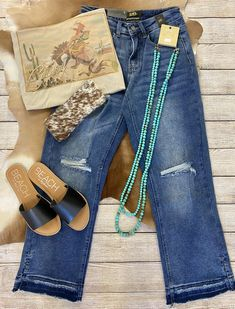 Western Outfits, Fashion Boutique, Mom Jeans, Jewerly, Texas, Turquoise, Pants, Clothes, Collection