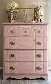 A Bit O' Whimsy: Romantic Pink Dresser