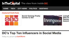 Named one of DC's Top Ten Influencers (2012)