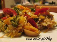 Legumes Salteados com Molho de Soja