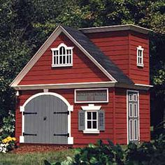 Olde Firehouse Playhouse - Children's Patio Furniture and Playhouses - Outdoor Furniture - Outdoor and Garden - PoshLiving Castle Playhouse, Outside Playhouse, Build A Playhouse, Playhouse Outdoor, Outdoor Sheds, Playhouse Kits, Simple Playhouse, Luxury Playhouses, Shed Kits