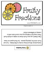 Here's a file folder game to practice naming fractions.