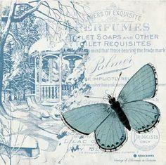 Láminas para decoupage/ Entre Rosas y Mariposas