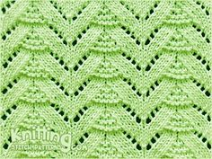 Lace knitting -  Fir Tree stitch.