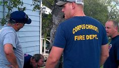 About 20 firefighters spent today helping build a home for Habitat for Humanity.