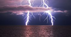 Lightning strikes are often related with solid objects like trees and tall buildings, but they can also hit bodies of water. Lightning over...