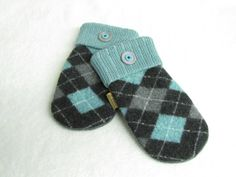 Felted Wool Sweater Mitten Made from Recycled by NorthlandWoolens, $40.00