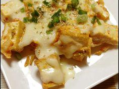 キムチと厚揚げのチーズ焼きの画像