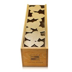 Love Themed Large Hearts Laser Cut Wooden Wine Box great for Holiday or Valentine's Day Gifting Wine Lover Gift or Champagne Gift Box