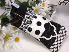 Sunglasses Case Elegant Black and White by PhenomenalWomenShop