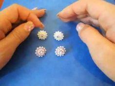 DIY - Tutorial - Orecchini a perno con superduo e swarovski (stud earrings)-stella blu.wmv - YouTube