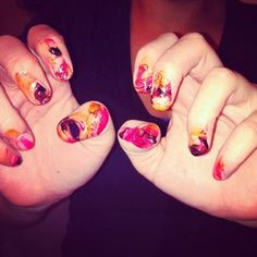 These nails are a hot mess. #pinterestfail