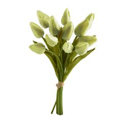 """Fresh Touch Mini Green Tulip $2.00 ea. Ships Min. of 6ea.  20.5""L The mini tulips are available in orange, pink, white, purple and red.  www.couturehomeaz.com"