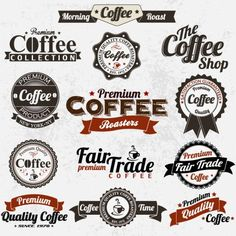 Find Set Vintage Retro Coffee Badges Labels stock images in HD and millions of other royalty-free stock photos, illustrations and vectors in the Shutterstock collection. Coffee Icon, Coffee Art, Web Design, Label Design, Graphic Design, Vintage Labels, Retro Vintage, Logo Vintage, Coffee Shop Logo